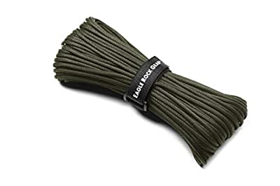 Eagle Rock Gear - 550lb 7-Strand Nylon Paracord Rope - 100 ft (Army Green)