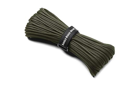 Eagle Rock Gear - 550lb 7-Strand Nylon Paracord Rope - 100 ft (Army Green, 100 ft (30.5m))