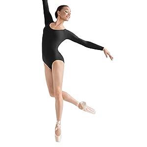 3d5faacc06cf Amazon.com : Bloch Dance Women's Chiwa Button Back Lace Cap Sleeve Leotard,  Black, Large : Clothing