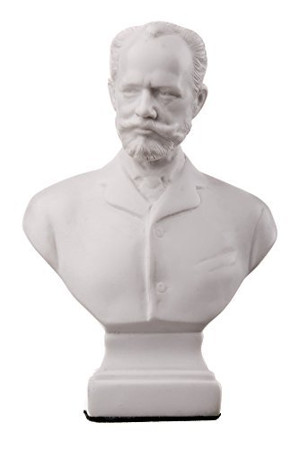"danila-souvenirs Ruso Compositor Pyotr Tchaikovsky mármol Busto Estatua Escultura 5.1""Color Blanco"