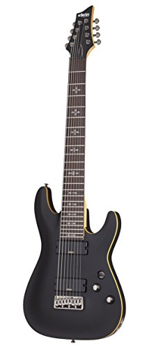 Schecter 8 String Solid-Body Electric Guitar, Aged Black Satin (3663)