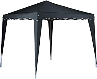 cucunu Pop Up Tent Canopy Instant Gazebo 10 x 10 Shelter with Metal Frame for Outdoor Patio Garden Waterproof 10x10 Grey
