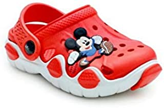 Kids Croslite Unisex Red &White Clogs 18-24 Months for boys and girls