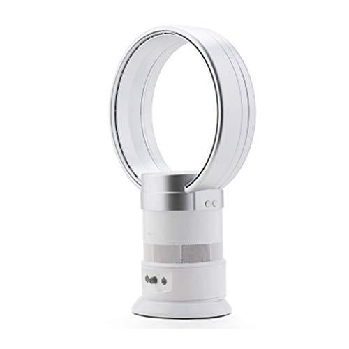 Ventilatoren Fan Fanless Fan Silent Timing Fernbedienung Fan Home Office Desktop Fan Tragbarer Lüfter Geschenk (Color : Weiß, Size : 30 * 18 * 51cm)