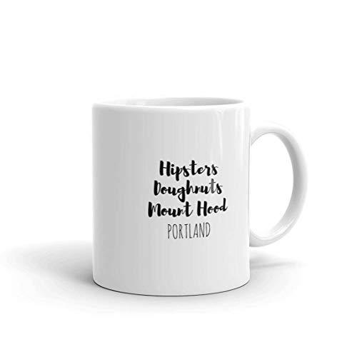 Taza de café de 325 ml Portland Oregon Home State de Oregon, taza de regalo Portland, hipsters donuts Mount Hood Only One