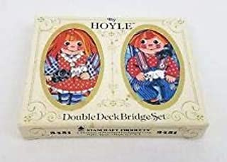 Vintage Raggedy Ann & Andy Double Deck Bridge Playing Card Set by Hoyle # 3451