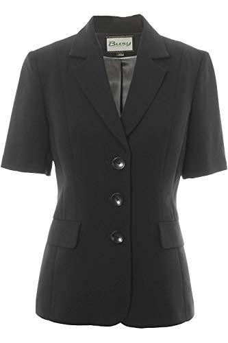 Busy Clothing Women Short Sleeve Jacket Black 22