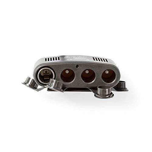 TronicXL 12V 4Compartimento de Cigarrillos + USB Hembra Suave Distribuidor Coche Auto