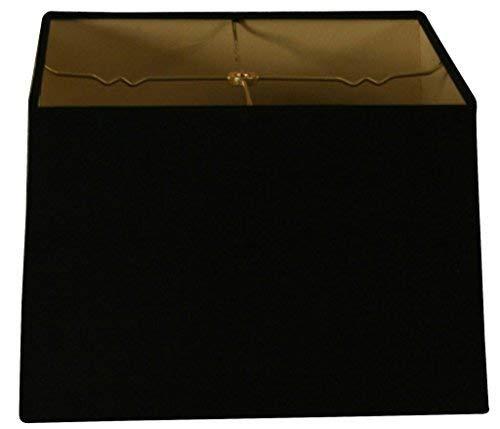 Royal Designs Lampenschirm, quadratisch, Hartschale, Eierschalen-Design, 15 x 15 cm, 16 x 16 cm, 10 Stück, Schwarz, (13x13) x (14x14) x 9.5