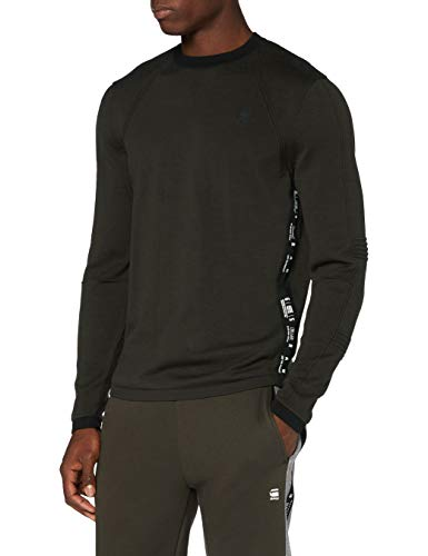 G-STAR RAW Herren Motac Straight Pullover Sweater, Raven 8403-976, XX-Large