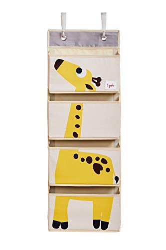 3 Sprouts Hanging Wall Organizer- Storage for Nursery and Changing Tables, Giraffe