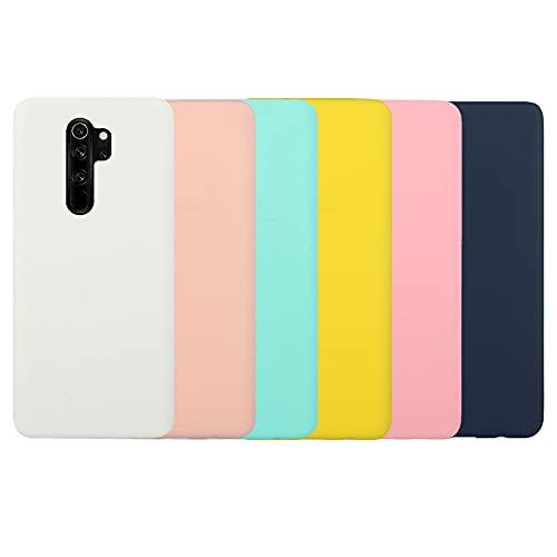 SEEYA - Funda para teléfono Xiaomi Redmi Note 8 Pro, color sólido, ultrafina, suave al tacto, silicona flexible, TPU a prueba de golpes, carcasa de piel (blanco, coral, azul, amarillo, rosa, negro)