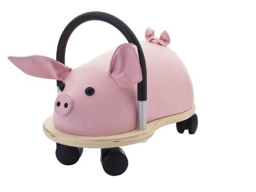 Wheely Bug Ferkel klein, kleines Holzschwein auf Rollen mit Griff, ultimatives...