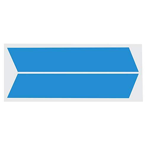 Alamor 2Pcs Car Vinyl Stripes Truck Racing Stickers Graphic Decal Universal für Dodge Ram - Blau