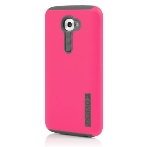 Incipio DualPro Case for LG G2 (Verizon) - Carrying Case - Retail Packaging - Cherry Blossom Pink/Gray