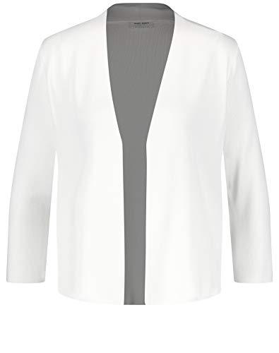 Gerry Weber Damen Kurze Jacke Aus Feinstrick Klassische Passform Off-White 48