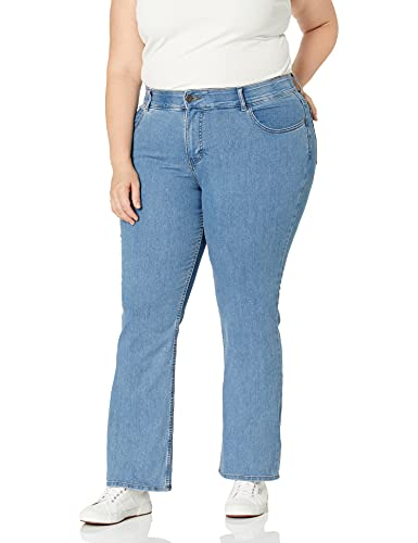 Riders by Lee Indigo Women's Plus Size Stretch No Gap Waist Bootcut Jean, Mist, 20W
