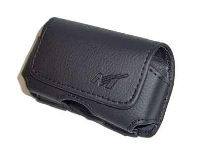 Premium Black Horizontal Leather Side Case Pouch with Belt Clip for Motorola VE20 RAZR, Adventrure V750, V3 RAZR/LG VX8560 CHOCOLATE 3, AX565, VX8700, VX8600, KE970