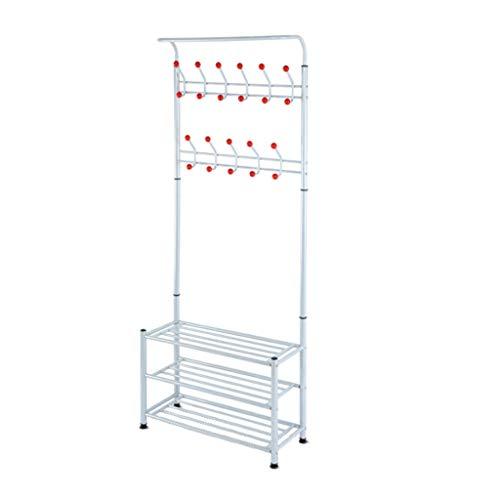 BIAOYU Perchero de ropa rack rack simple suspensión de piso combinación multifunción ropa varilla montaje dormitorio abrigo soporte