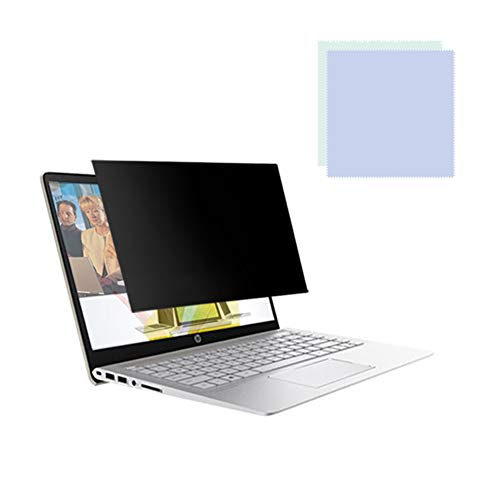 JANEFLY Privacy Filter Film Scherm voor Bureaublad/laptop, Anti Glare Protector Film voor Gegevens Vertrouwelijkheid, Glanzend/Frosted Oppervlak met Geschenkreinigingsdoek - Meerdere modellen, 14in16:9(310 * 174mm)