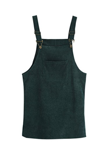 SOLY HUX Vestido Pichi de Pana con Bolsillo - Verde S