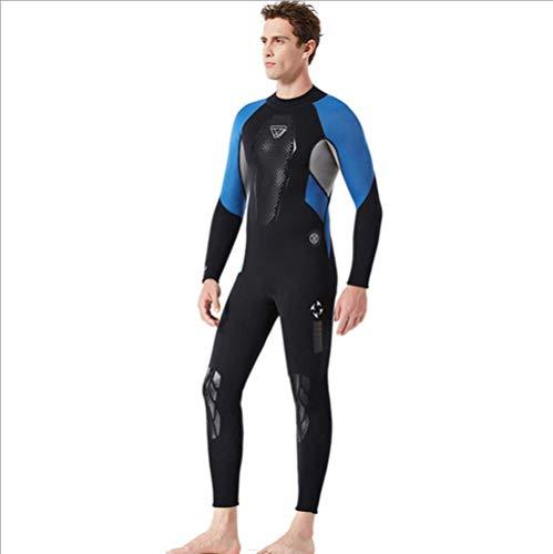 JJZXLQ Traje de Neopreno de Cuerpo Entero para Hombre, Neopreno Premium Traje de baño 3 mm Longitud Total Trajes de Snorkel Nadando/Submarinismo/Bucear/Surf,B,XL