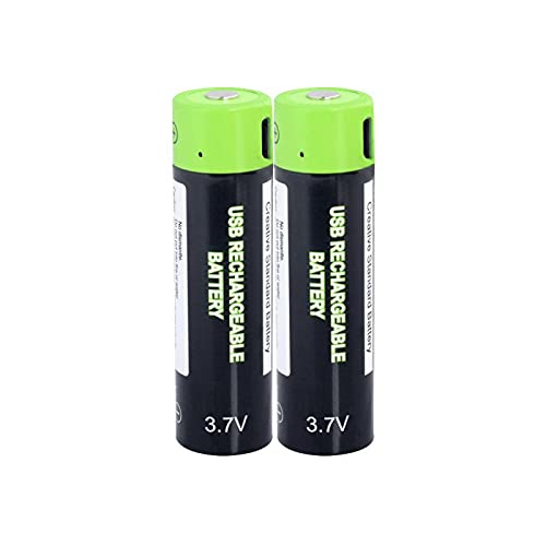 Jrnicelife 1/2/4 Piezas 3,7 v 18650 Batería Recargable 1500 Mah Batería De PolíMero De Litio Recargable USB Carga ráPida por Cable Micro USB para Banco 1pcs