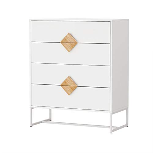 LQIAN Special Shape Square Handle Design with 4 Drawers Bedroom Furniture Dressers End Table Nightstands