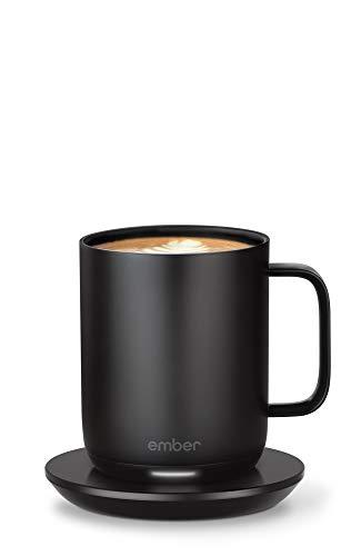 Smarter Ember Becher 2 mit Temperaturregelung, 295 ml, Schwarz, 1,5 Stunden Akkulaufzeit – per App gesteuerter, beheizter Kaffeebecher – neues und verbessertes Design