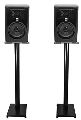 Fantastic Deal! Pair JBL 306P MkII 6 Powered Studio Monitor Monitoring Speakers+37 Stands