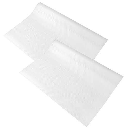 2 rollos de almohadilla de EVA para armario, revestimiento para estantes, antideslizante, para cajones, tapete para cajones, para frigorífico, rollo antideslizante,no adhesivo, para cocina, dormitorio