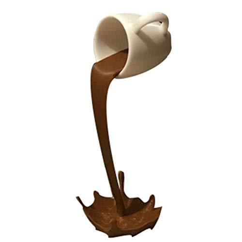 SunshineFace Schwebende Tasse mit Flüssigkeits-Kaffeetasse, Statue, Kunst-Deko, Kaffeetassen, Skulptur für Zuhause, Wohnzimmer, Küche