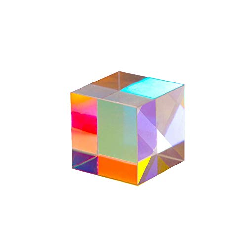 EDCV Optical Glass X-Cube Prism RGB Dispersion Prism for Physics and Decoration Same Size