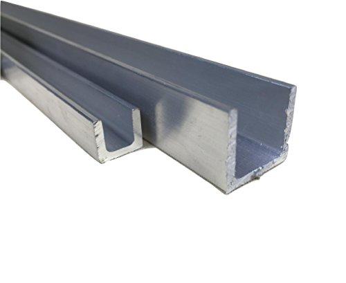 Perfil de aluminio en U -  Acabado natural, 80 x 40 x 40 x 3 mm x 1000 mm, 10000