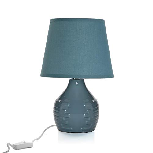 Lampe céramique gris foncé