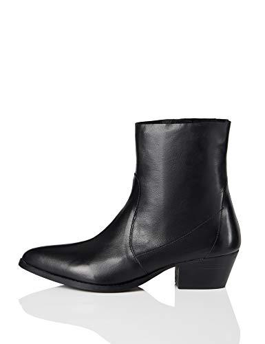 find. Unlined Western Leather Mokassin Boots, Schwarz Black), 40 EU