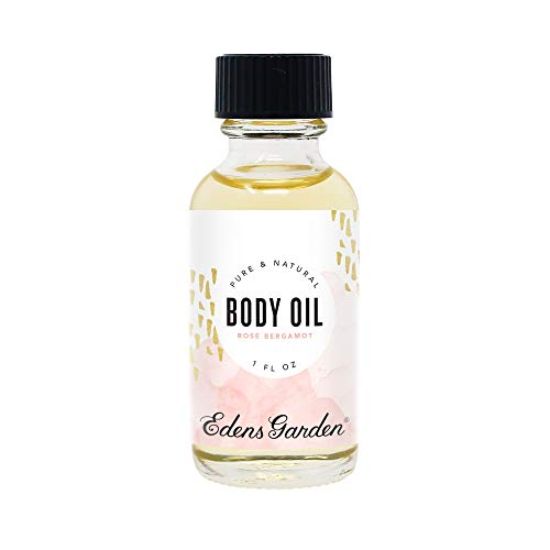 Edens Garden Rose Bergamot Aromatherapy Body Oil (Made With Pure Essential Oils & Vitamin E- Great For Massage & Daily Skin Care), 1 oz