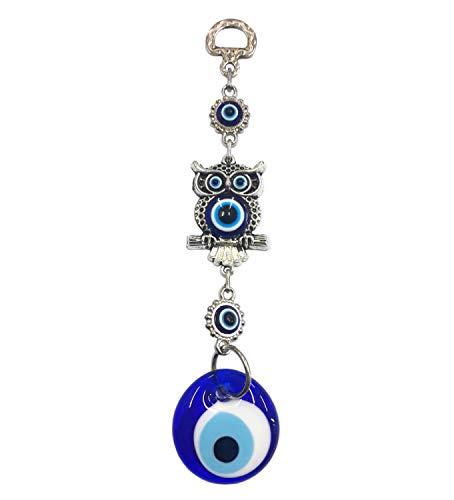 Perlin Nazar Boncuk, boncugu, turco, azul, Evil Eye, búho, decoración de pared, adorno de pared, adorno de adorno, decoración para el hogar, protección bendición regalo