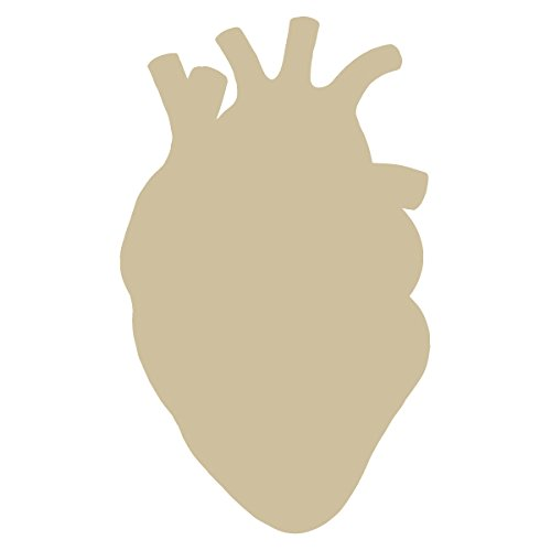 Anatomical Heart Silhouette Cardiologist Logo - Vinyl Decal for Outdoor Use on Cars, ATV, Boats, Windows and More - Beige 11 inch