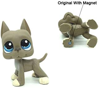 LPS #184 Littlest Pet Shop Grey Great Dane Dog Blue Eyes Toys Puppy