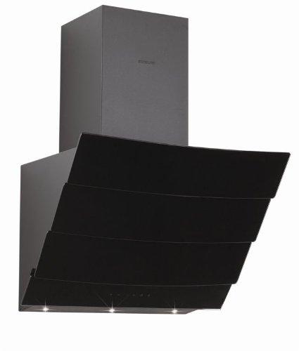 Silverline Kassiopeia Deluxe 80 schwarz/Glas schwarz Kopffrei Wandhaube mit Randabsaugung - Achtung: das Foto zeigt das Gerät in 60 cm Breite