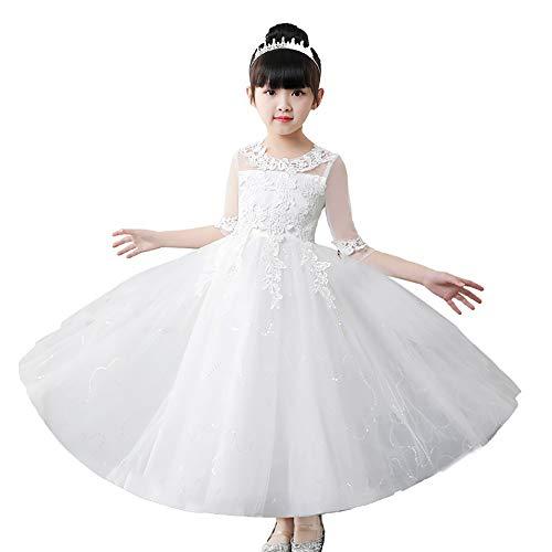 Xiao Jian high-performance jurk, prinsessenjurk voor meisjes, lentejurk, bloemenmeisjes, pettiskirt, zomerjurk voor kinderen, bruidsjurk voor meisjes, wit