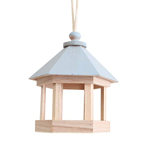 XZLX Außerhalb Holz Vogelhaus, Lüftung Hang Vogel-Hauses Für Kleinen Vogel Chickadees Sparrows