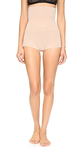 SPANX Women's Higher Power Boy Shorts, Light Nude, Large