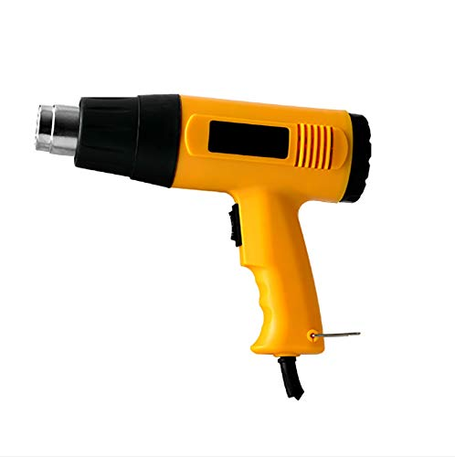 OPNIGHDYMD Pistola de Calor de 2000 W, Pistola de Aire Caliente de Mano, para Eliminar Pintura, Barniz, PVC retráctil, Manualidades y más mejoras para el hogar de Bricolaje
