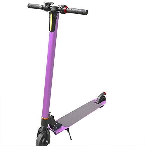 CAREXY E-Scooter, 250W Elektroroller Motor Faltbarer Elektroroller E-Roller Elektro Scooter 5.5-Zoll-Verschleißreifen mit LCD-Display Einfaches Zusammenklappen und Tragen bis zu 25 km/h,Rosa