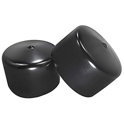 Prescott Plastics 2 3/4 Inch Round Black Vinyl End Cap, Flexible Pipe Post Rubber Cover (20)