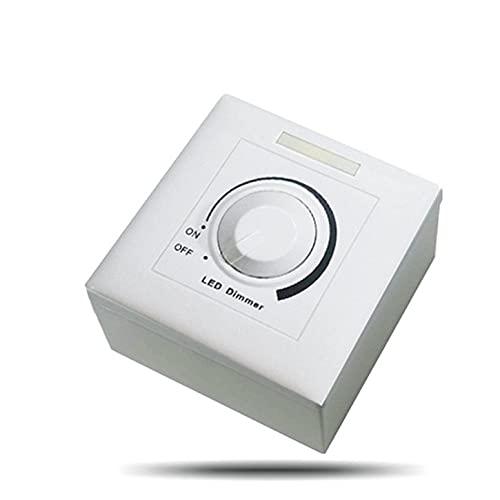 Dc 0-10V Interruptor de atenuación LED Controlador ajustable Atenuador de controlador LED para luz regulable Foco de luz empotrable Bombilla LED - Negro