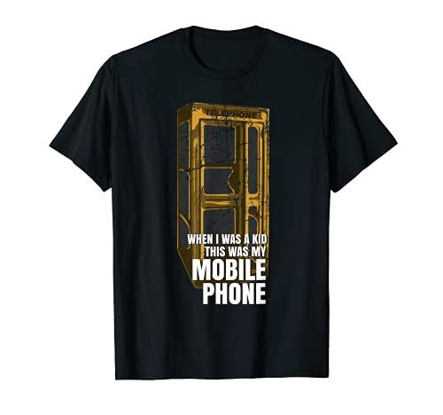 Téléphone portable « When I Was A Kid Your Age » - Cadeau pour personnes âgées T-Shirt