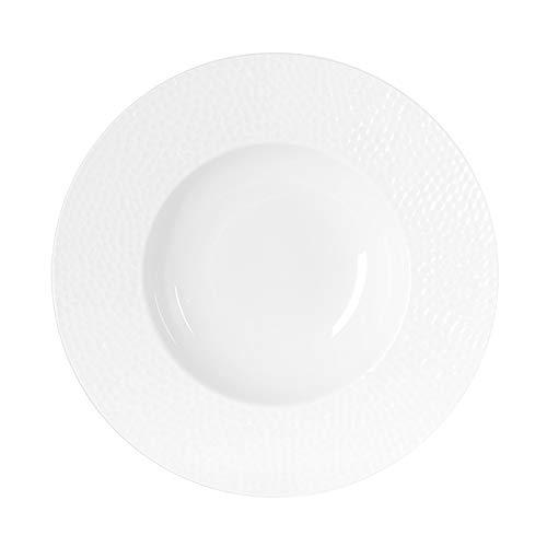 Table Passion - Assiette creuse louna relief blanc 23 cm (lot de 6)